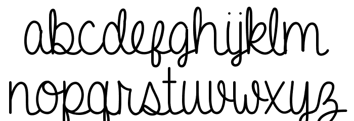 A Gentle Touch Font LOWERCASE