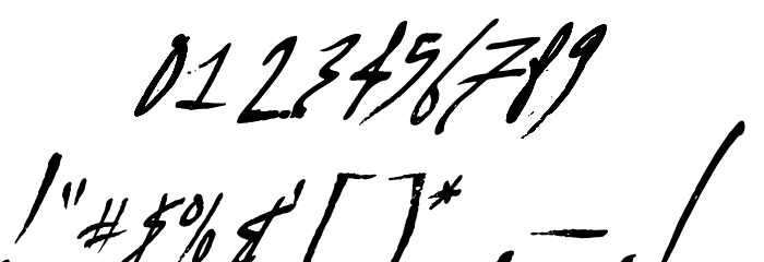 A Glitch In Time フォント その他の文字