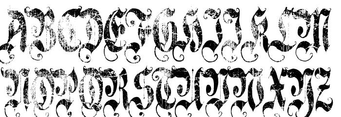 A Gothique Time  لخطوط تنزيل الأحرف الكبيرة