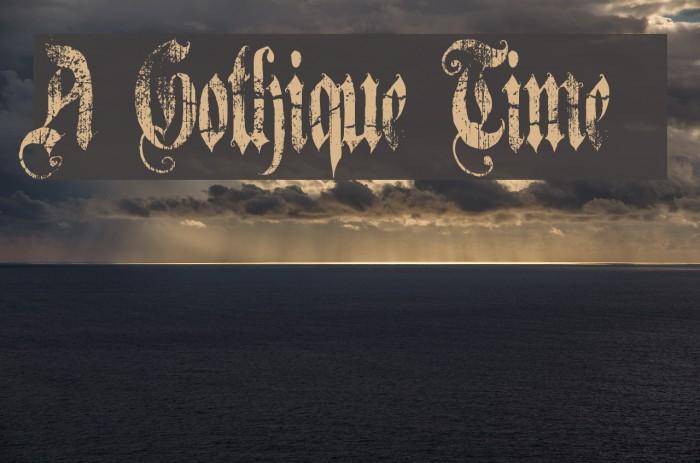A Gothique Time  لخطوط تنزيل examples