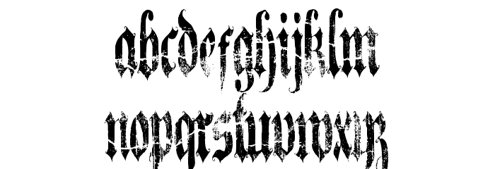 A Gothique Time  لخطوط تنزيل صغيرة