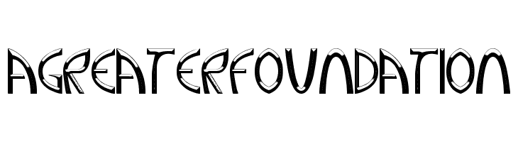 A Greater Foundation  Free Fonts Download