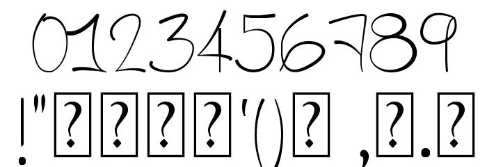 A HandMade Font フォント その他の文字