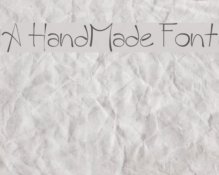 A HandMade Font フォント examples