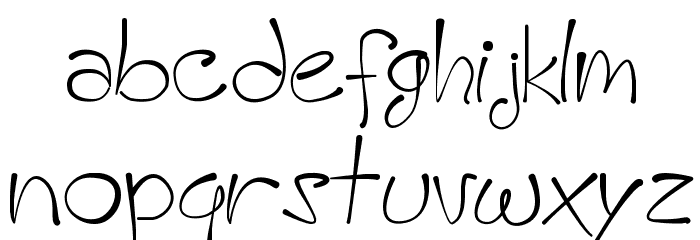 A HandMade Font フォント 小文字