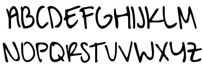 A Hundred Miles Font UPPERCASE