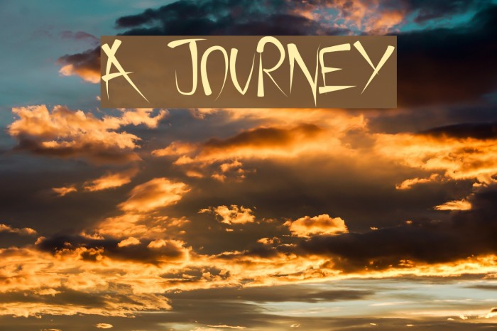 A Journey フォント examples