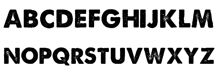 A Love of Thunder Font LOWERCASE