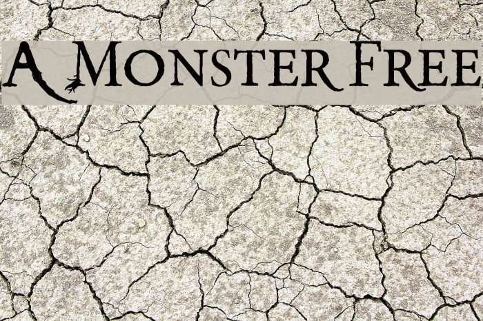 A Monster Free Font examples