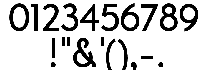 A Pompadour Sample Font OTHER CHARS