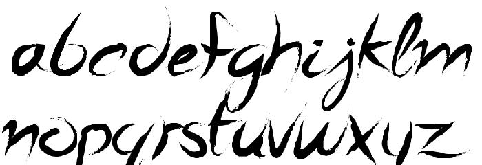 A Quiet Sleep Schriftart Kleinbuchstaben