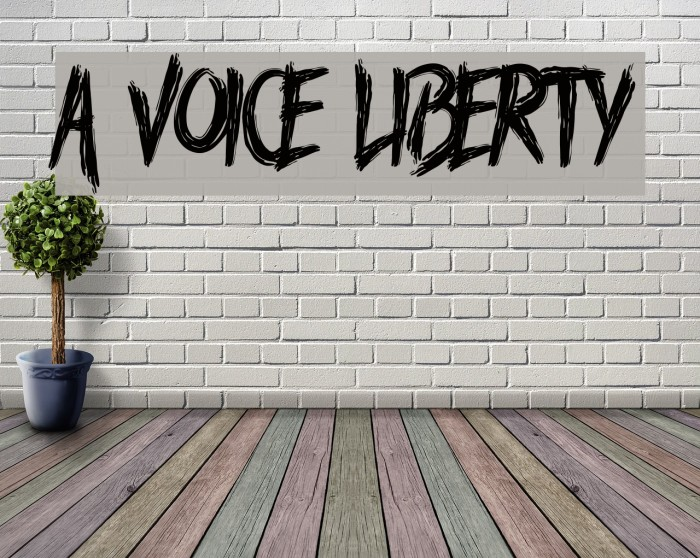 A Voice Liberty 字体 examples