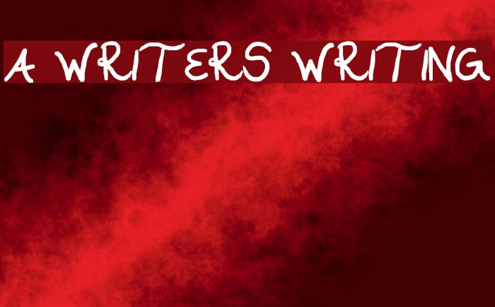 A WRITERS WRITING Fonte examples