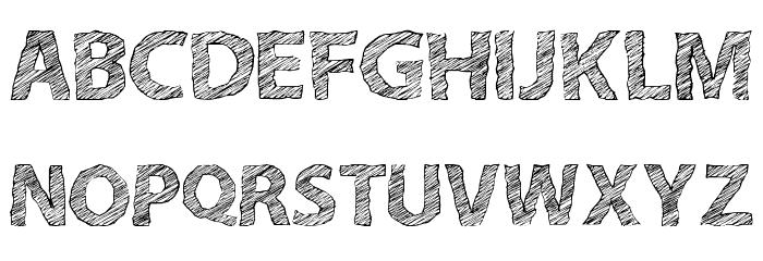A bit sketchy regular フォント 大文字