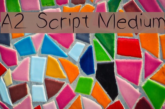 A2 Script Medium फ़ॉन्ट examples