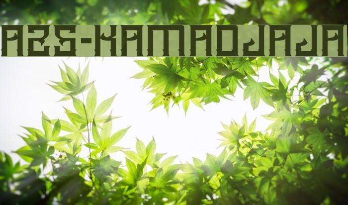 A25-KAMADJAJA Font examples