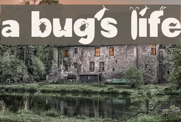 a bug's life Font examples