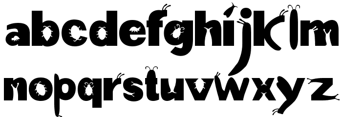 a bug's life Font LOWERCASE