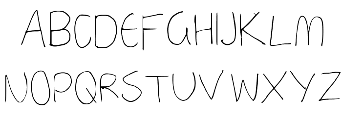 a neatish font Regular फ़ॉन्ट अपरकेस