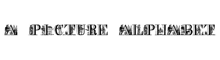 a picture alphabet  font caratteri gratis