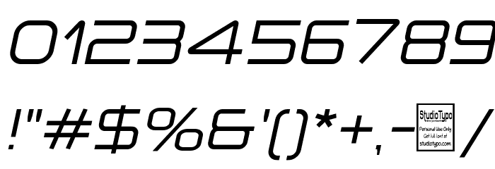 a `space Italic Font OTHER CHARS