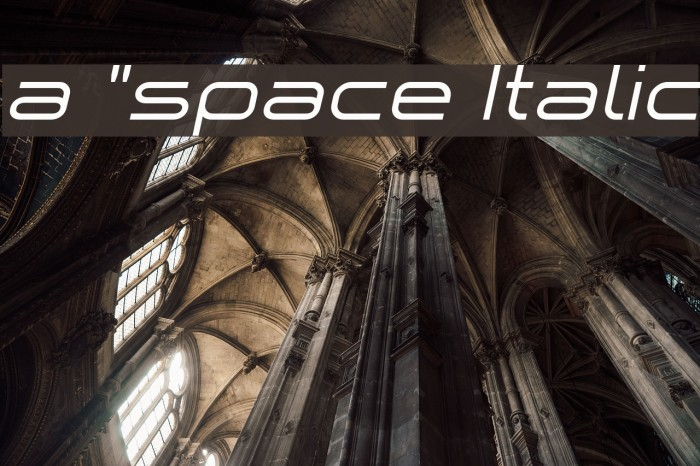 a `space Italic Font examples