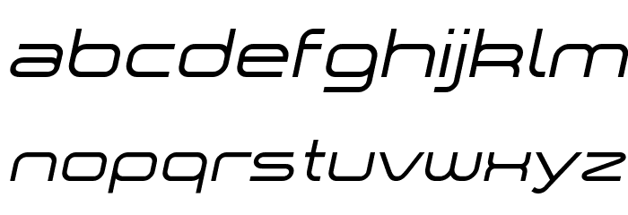 a `space Italic Font LOWERCASE