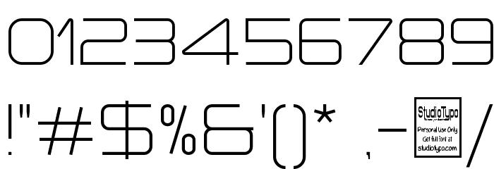 a `space Light Шрифта ДРУГИЕ символов