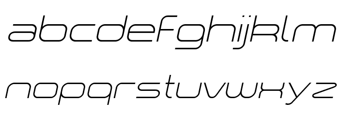 a `space light Italic Font LOWERCASE