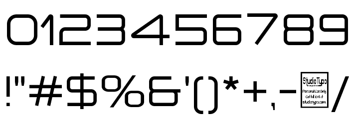 a `space Font OTHER CHARS