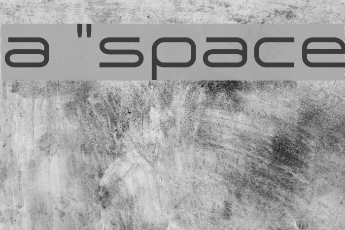 a `space Font examples