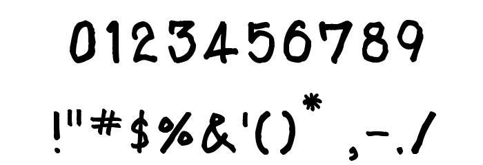 AAA-Prachid Hand Written Шрифта ДРУГИЕ символов