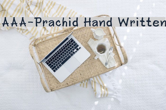 AAA-Prachid Hand Written Шрифта examples