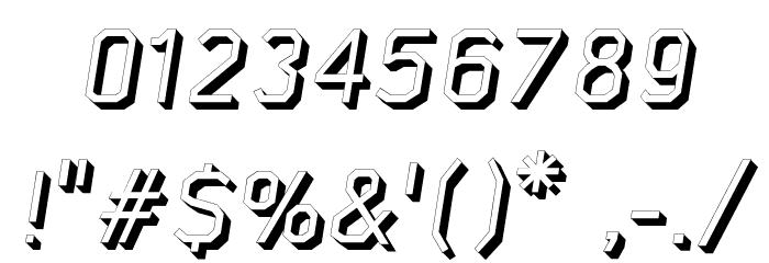 AAA-WatinBold3D-Italic Font OTHER CHARS