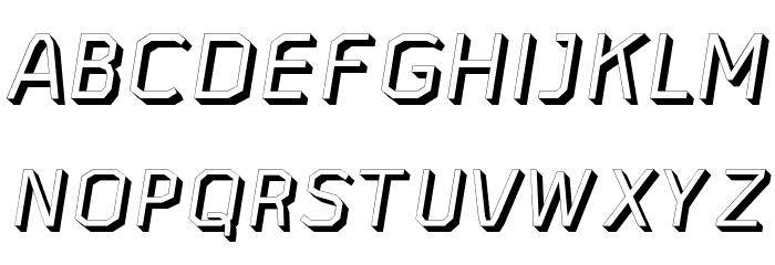 AAA-WatinBold3D-Italic Font UPPERCASE