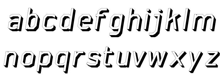 AAA-WatinBold3D-Italic Font LOWERCASE