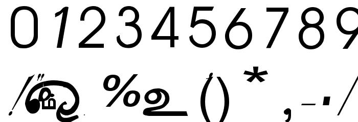 AATMZL Font OTHER CHARS