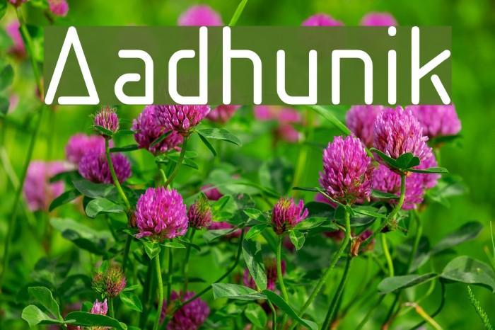 Aadhunik Font examples