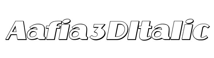 Aafia 3D Italic  baixar fontes gratis