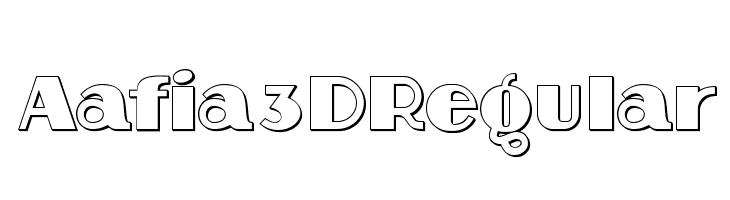 Aafia 3D Regular  baixar fontes gratis