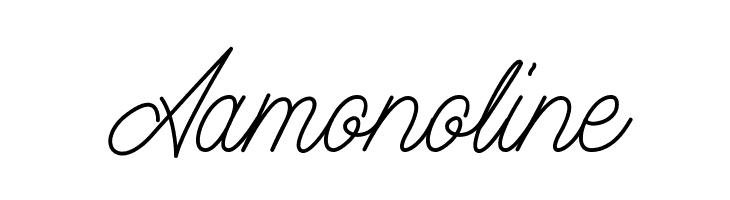 Aamonoline  Frei Schriftart Herunterladen