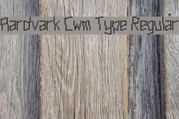 Aardvark Cwm Type Regular फ़ॉन्ट examples