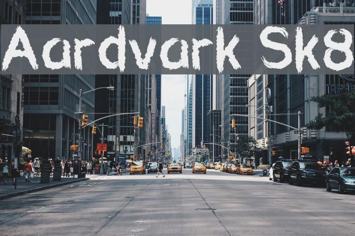 Aardvark Sk8 फ़ॉन्ट examples