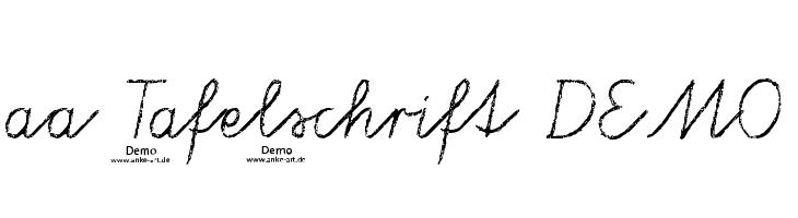 aa Tafelschrift DEMO  Free Fonts Download