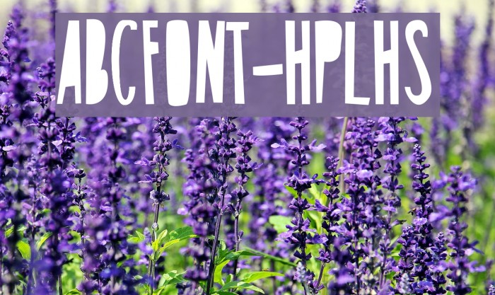 ABCFONT-HPLHS Шрифта examples