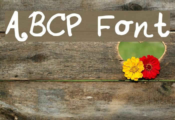 ABCP Schriftart examples