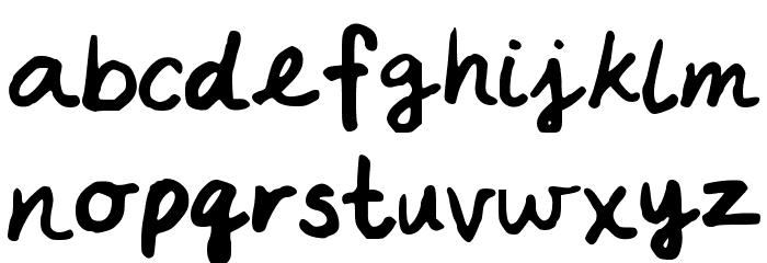 ABCP Schriftart Kleinbuchstaben