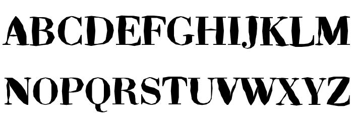 ABCTech Bodoni Mangle Font Litere mari