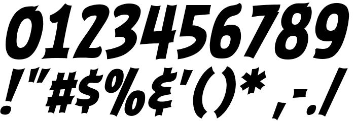 ABFlockHeadline Bold Italic Шрифта ДРУГИЕ символов
