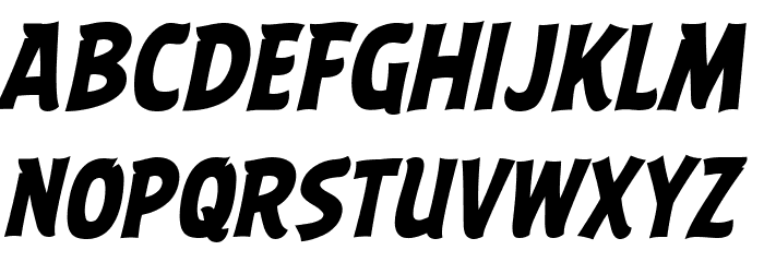 ABFlockHeadline Bold Italic Шрифта ВЕРХНИЙ